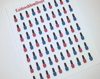 Mini Nail Polish Mini Sticker Set - M010