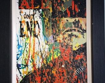 Original Dredd (Film) Acrylic Painting - Framed