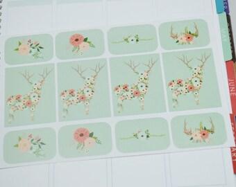 12 Floral Deer Set