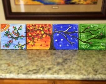 Set of Four Seasons Painting