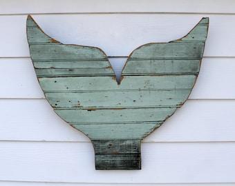 Mermaid Reclaimed Wood Sign, Rustic Mermaid Tail, Beach Decor, Mermaid Art, Wood Wall Art