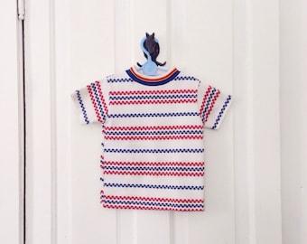 SALE - 1960s boys diamond and argyle pattern knit tee / diamond pattern / knit shirt / by health tex / 4T