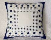 Hanky Pillow Featuring Lots of Dots