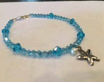 Light Blue Starfish Bracelet