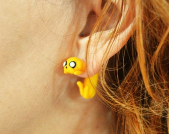 Jake earring inspired in Adventure Time. Select 1 single earring or a pair (2 in ''quantity'')