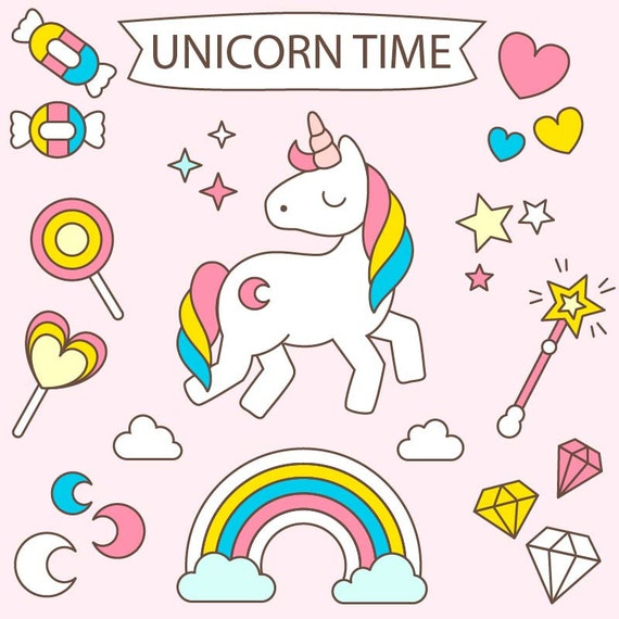 80 Off Sale Baby Unicorn Clipart Commercial Use By