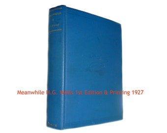 Meanwhile First Edition H.G. Wells 1st Printing 1927