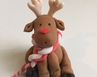 Holiday Reindeer cupcake topper / cake topper