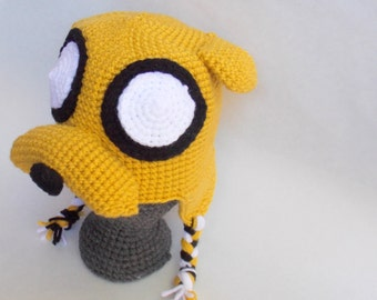 Jake The Dog Crochet Beanie. Adventure Time Crochet Hat. Made to Order