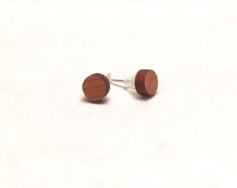 Cherry Wooden Post Earrings