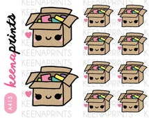 A413 | PACKAGE Happy Mail Stickers Perfect for Erin Condren Life Planner, Filofax, Plum Paper, scrapbooking