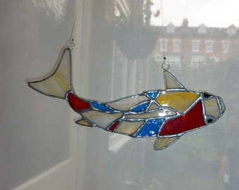 Stained glass Carp suncatcher