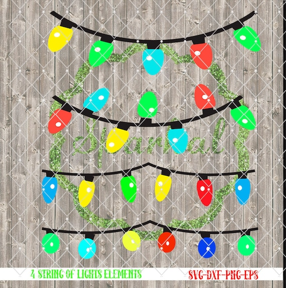 Christmas String of Lights SVG Cutting File Tree Lights for