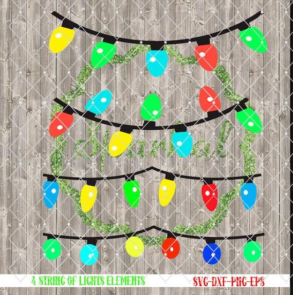String Lights Svg : Christmas String of Lights SVG Cutting File Tree Lights for
