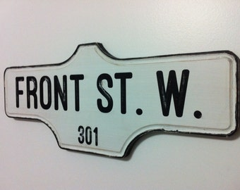 Toronto Street Sign - 301 FRONT ST.