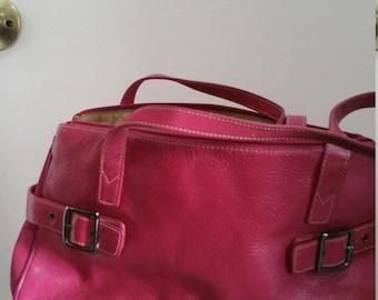 Franco Sarto Pink Leather Handbag