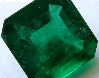 Top Grade Gem 3.09 ct GIA Certified Top Green Emerald Loose Gemstones