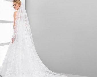 Cathedral Lace Veil | Mantilla Cathedral Veil