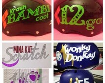 Helmet Sticker name and number