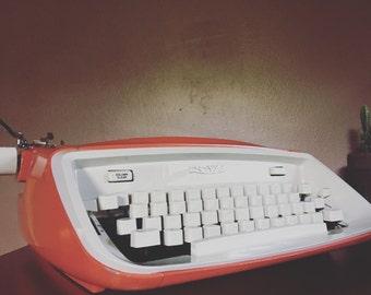 SOLD*Red Orange Royal Safari Typewriter