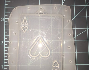 Ace of Hearts Resin Mold - Flexible Plastic Resin Mold