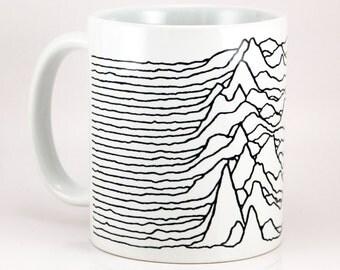 Joy Division Coffee Mug, Unknown Pleasures, Punk Mugs, Ian Curtis, Love Will Tear Us Apart