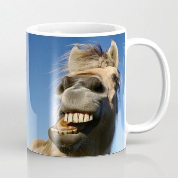 Horse mug fun mugs equestrian gifts animal mug face for Animal face mugs