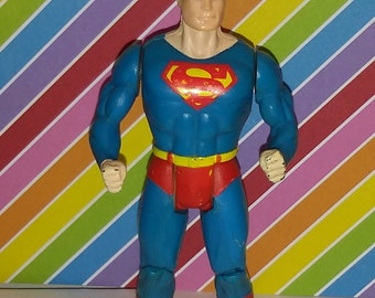 Vintage 1980s Kenner Super Powers Superman Figure