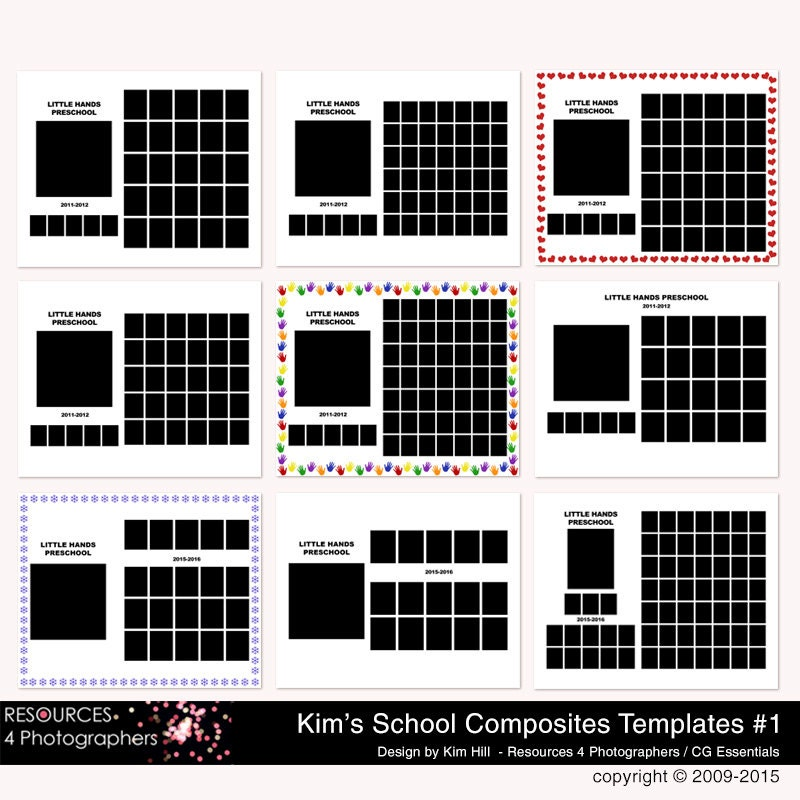 class picture templates resources 4 photographers group composite templates for school. Black Bedroom Furniture Sets. Home Design Ideas