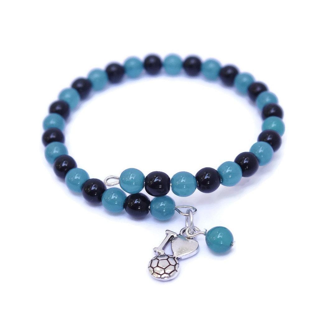 i soccer soccer charm bracelet beaded charm