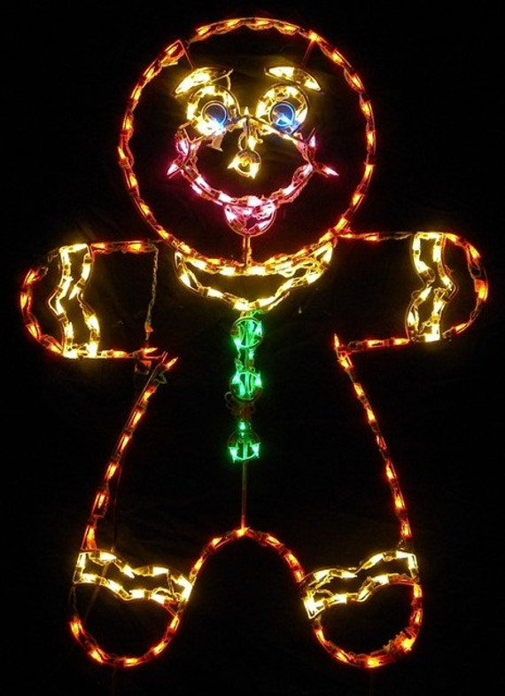 Items similar to merry christmas gingerbread man or boy for Quality outdoor christmas decorations