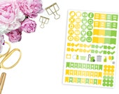 2016 August ECLP Icons and Weekend Banners -- Matte Planner Stickers