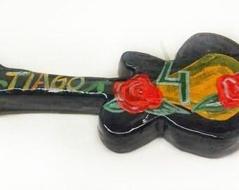Shaped Candle custom guitar.