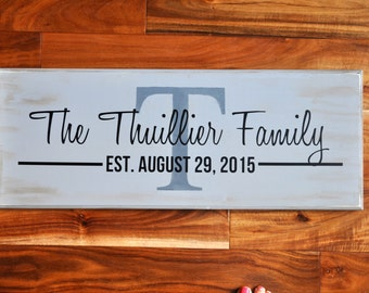 FAMILY WOODEN SIGN, Personalized, wedding gift, vintage, custom, married, wedding shower gift