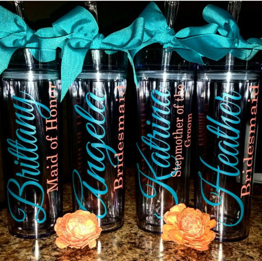 Personalized Gifts: Personalized Tumbler Bridesmaid Gift Gift Team Gift