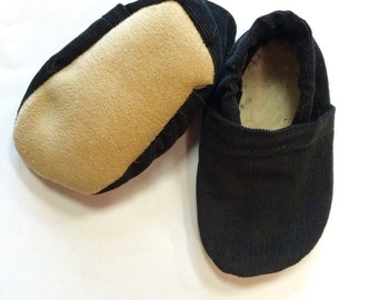 Black Corduroy Baby Shoes