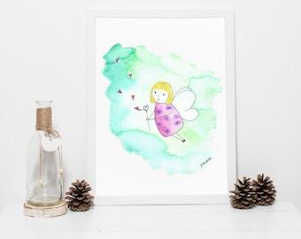 FAIRY print art, wall decor