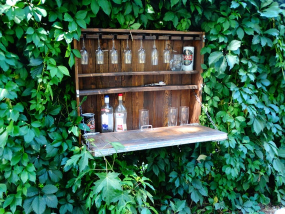Outdoor Wine Barwine Cabinet Pallet Furniturebar
