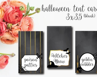 HALLOWEEN party printable TENT CARDS