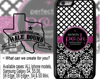 CUSTOM PHOTO PHONE Case - Perfectly Posh Independent Beauty Consultant Personalized cell phone case, New Iphone 7 & Galaxy 7