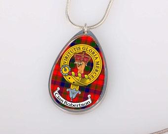 Scottish Clan Crest and Tartan Pendant