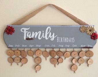 Family Birthday Board / Family Birthday Sign / Family Birthday Plaque / Birthdays Sign / Personalized Birthdays Sign / Birthdays Calendar