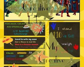 Milestone Poster - Superheroes