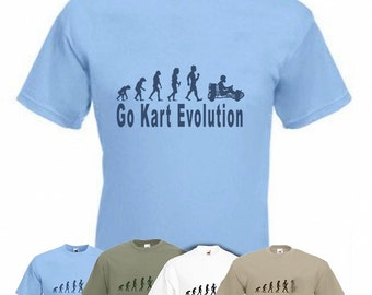 Evolution To Go Kart t-shirt Funny Go Kart Racing Driver T-shirt sizes Sm To XXL