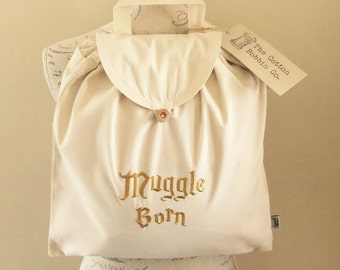 Muggle Born Harry Potter Inspired Embroidered Adventurer's / Festival Backpack. 100%Organic Cotton Backpack Children's Bags