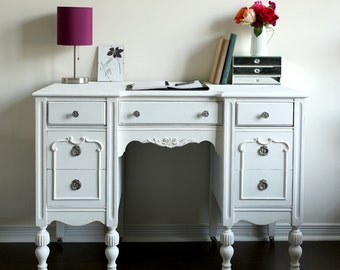 antique desk vanity white shabby chic furniture home office desk vintage chalk painted furniture sold antique home office desk