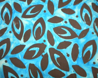 1 YD - Atlantis African Woodcut Turquoise Batik by Timeless Treasures