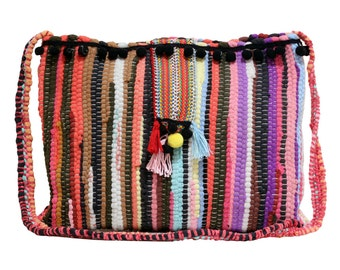 Kourelou bag in boho style in a large size with tassels