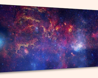 """Center of the Milky Way Galaxy IV, Composite  (10"""" x 24"""") - Canvas Wrap Print"""