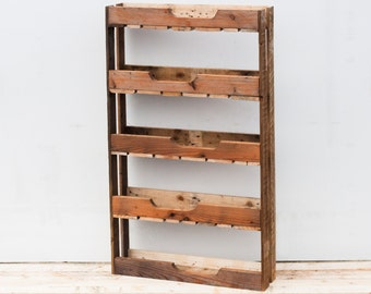 Tiered Planting Shelves - Rustic Wooden Planter - Garden Storage